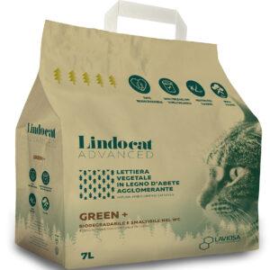 Litière agglomérante végétale LindoCat GREEN +